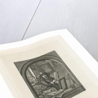 Painter in his studio by Elisabeth Barbara Schmetterling