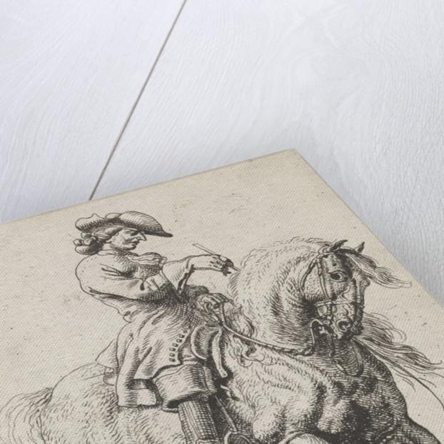 Horseman let his horse to fall behind by Dirk Maas
