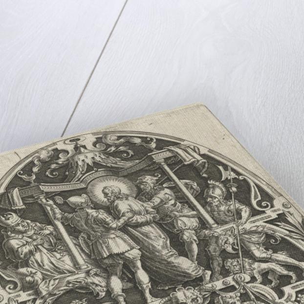 Christ before Caiaphas by Johann Sadeler I