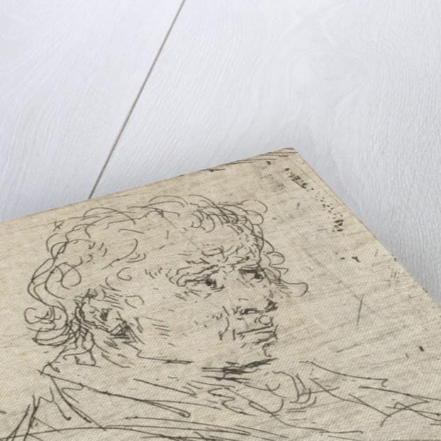 Portrait Study of three men by Jan Chalon