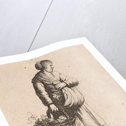 Woman with basket by Jan Gillisz. van Vliet