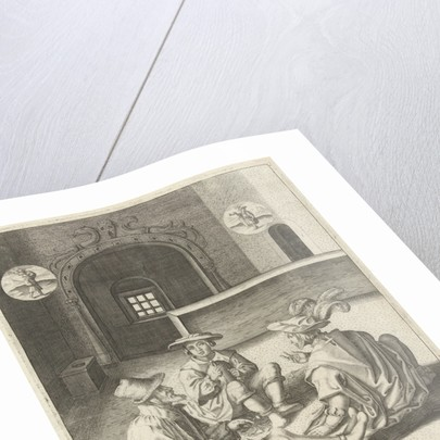 Joseph interprets dreams in prison by Lucas van Leyden