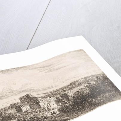 Coastal landscape with ruins by Johannes Pieter van Wisselingh