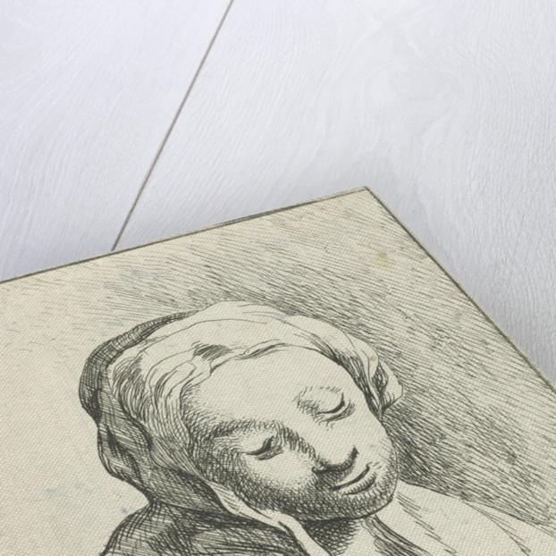 Bust of a woman, with headscarf by Margaretha Elisabeth Konsé-Philips