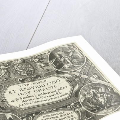 Title print Vita, et passio Resurrectio Jesu Christi by Adriaen Collaert