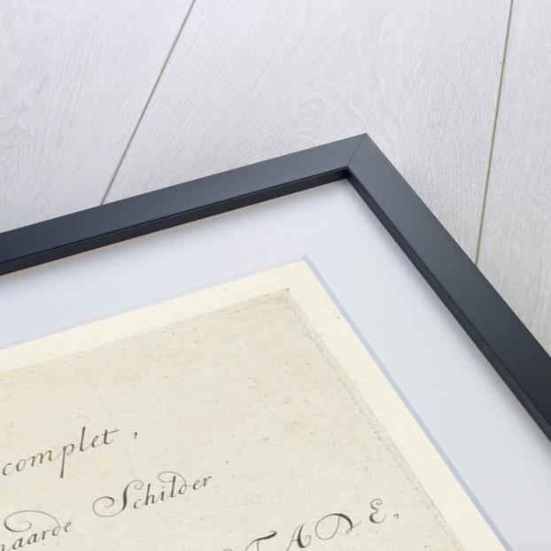 Title engraving of the complete series of prints by Adriaen van Ostade by van Jean Pierre François Basan