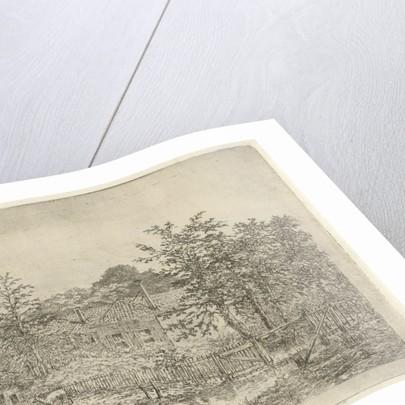 Landscape with deer by Gerardus Emaus de Micault