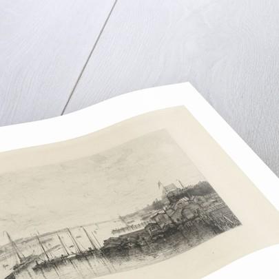 View of the buildings of the rowing club De Hoop by Johan Conrad Greive