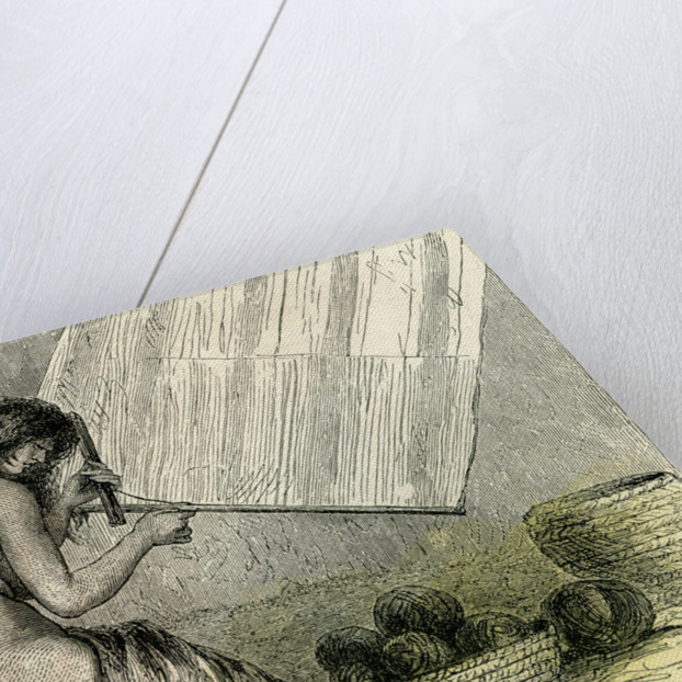 Conibos Woman Weaving 1869 Peru by Anonymous