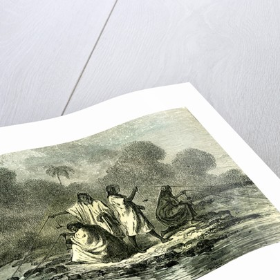 Chontaquiros Indians 1869 Peru Fishing by Anonymous