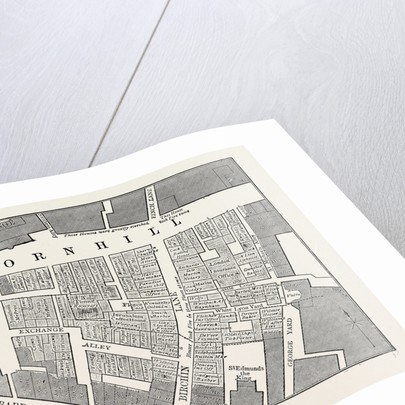 Map Showing the Extent of the Great Fire in Cornhill in 1748 by Anonymous