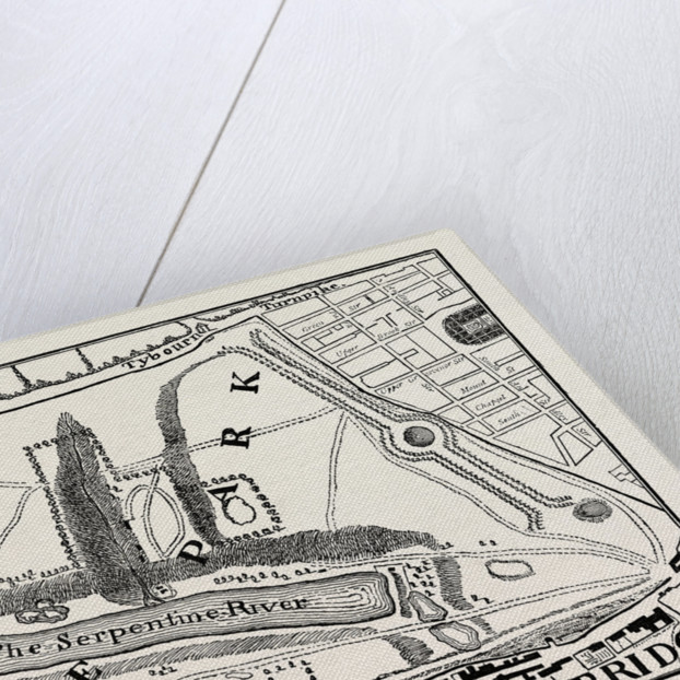 Hyde Park. Rocque's Map 1748 by Anonymous