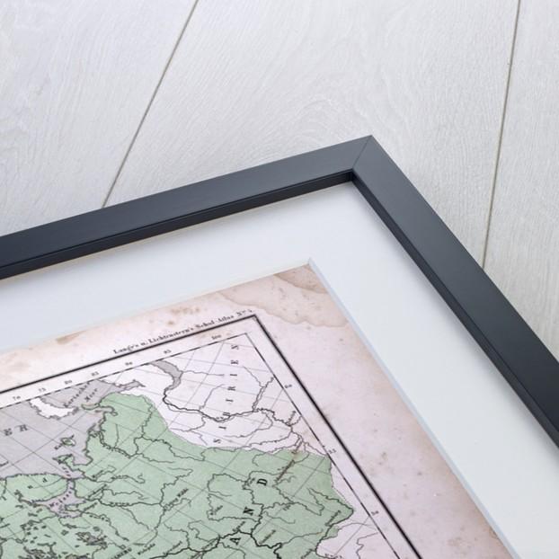 Europe, Europa, antique map 1869 by Th. von Liechtenstern and Henry Lange