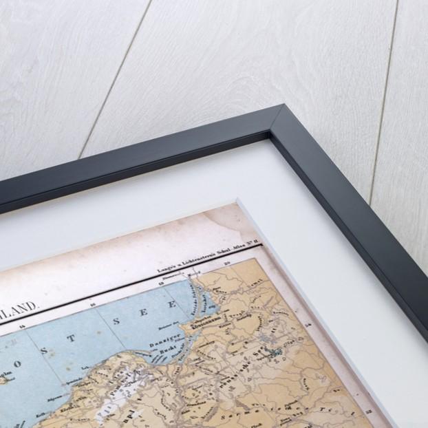 North and Middle Germany, Nord und Mittel Deutschland, antique map 1869 by Th. von Liechtenstern and Henry Lange