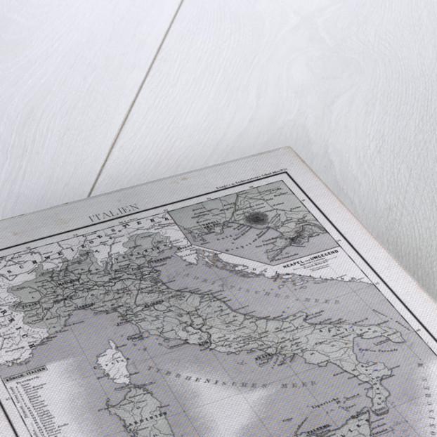 Italy, antique map 1869 by Th. von Liechtenstern and Henry Lange