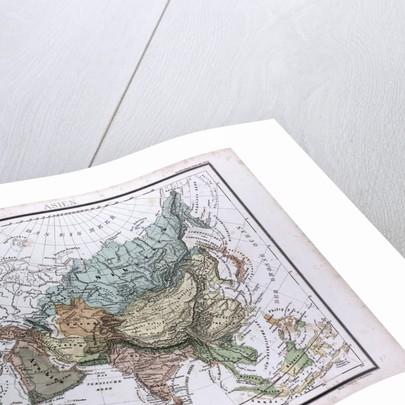 Asia Map, antique map 1869 by Th. von Liechtenstern and Henry Lange