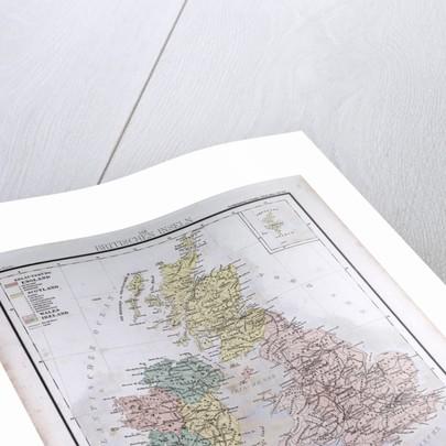 Great Britain and Ireland, antique map 1869 by Th. von Liechtenstern and Henry Lange
