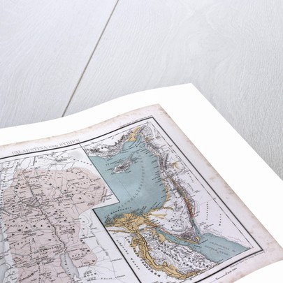 Israel, Syria, Palestina, antique map 1869 by Th. von Liechtenstern and Henry Lange