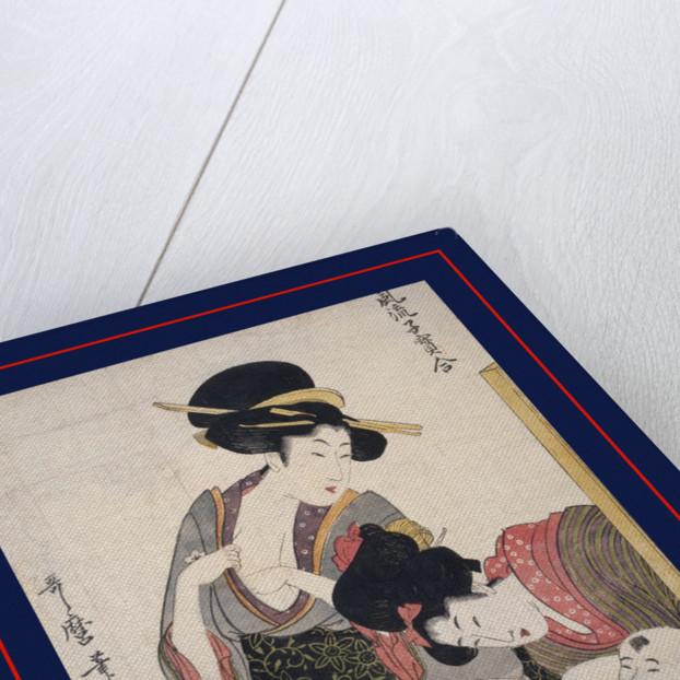 Chichi, About to breastfeed by Utamaro Kitagawa