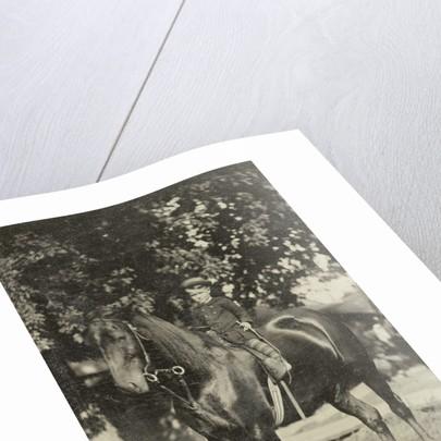 Boy horseback by Anonymous