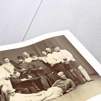 Group portrait of the members of the Christiania Cricket Club by Anonymous