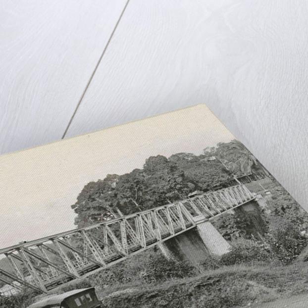 Dutch East Indies, indonesia, bridge over Batang Toro car by Anonymous