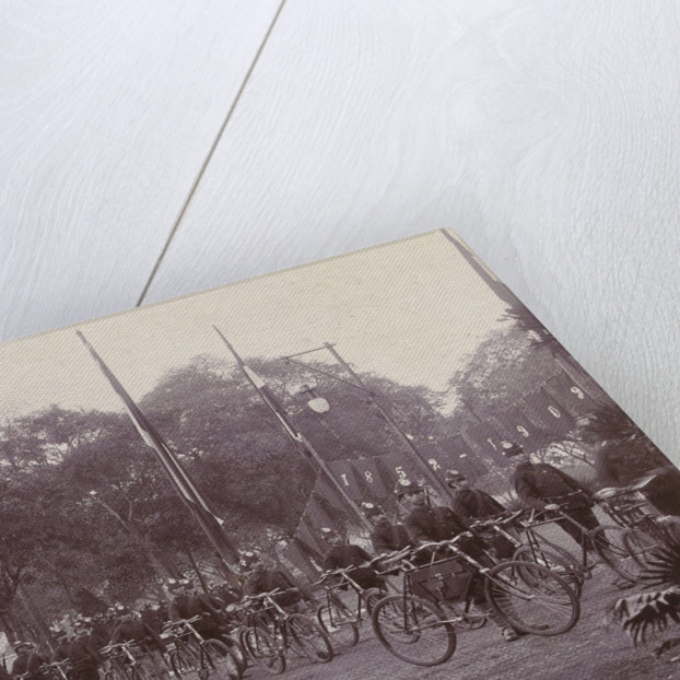Army Corps with bikes in the Dutch East Indies, indonesia by Anonymous