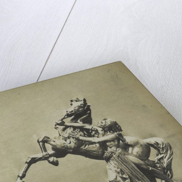Horse and Slave. (Electroplate) by C.M. Ferrier & F. von Martens