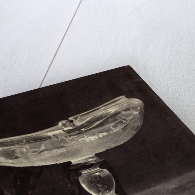 Crystal shell shaped bowl on foot by Charles Thurston Thompson