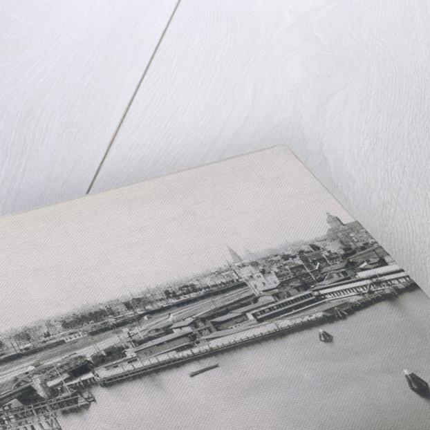IJ Oosterdock seen from the Meteorological Institute at the head of the Oostelijke Handelskade by Gerrit Hendricus Heinen