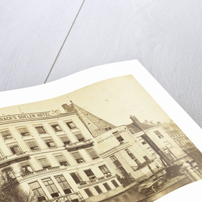 Brack's Doelen Hotel situated at the Nieuw Doelenstraat Amsterdam by Gerrit Hendricus Heinen