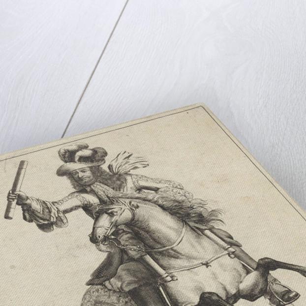 Equestrian Portrait of Frederick William by Nicolaes Visscher II