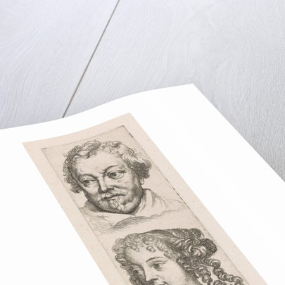 Heads of a man and woman, Augustinus Terwesten I by Anthony van Dyck