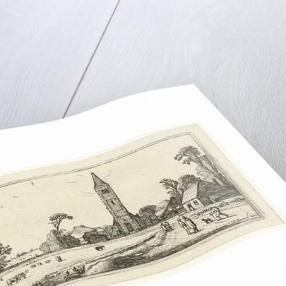 Hikers on a path to Spaarnwoude by Esaias van de Velde