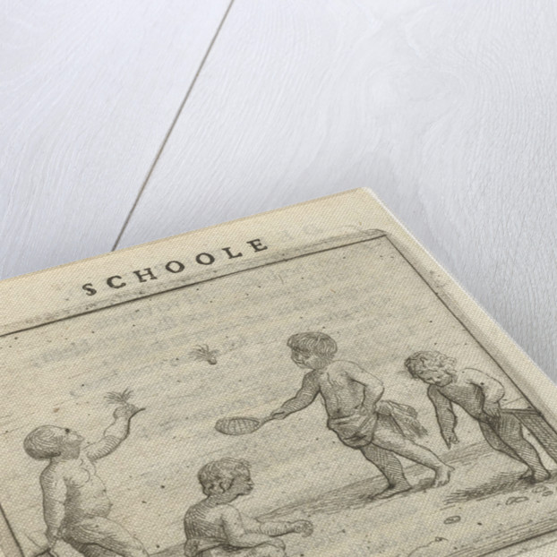 Four children playing by Arnold Houbraken