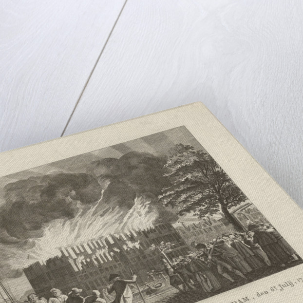 Fire in 's Lands Zeemagazijn Amsterdam, The Netherlands, July 6 by Anonymous