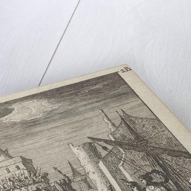 Galley at the storming of a castle by Gerrit van Goedesberg