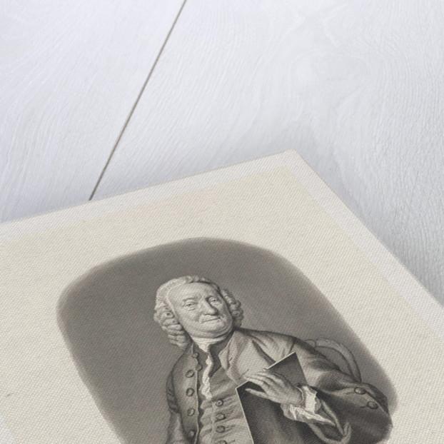 Portrait of Jacobus Houbraken by Jacob Houbraken