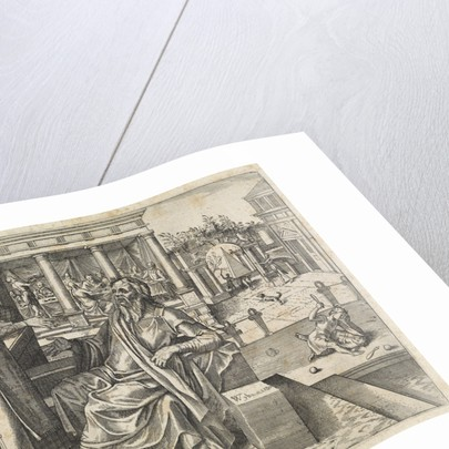 Sara asks Abraham to send Hagar and Ishmael away by Willem Thibaut
