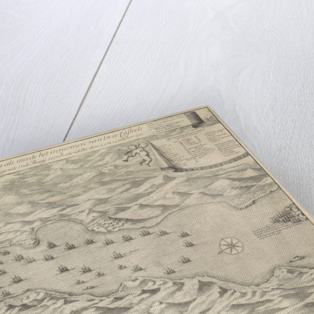 Map of the Battle of Vigo, October 23, 1702 by Anna Beeck