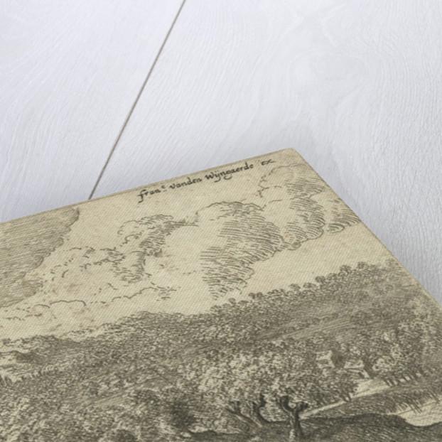 Landscape with men carrying sticks by Lucas van Uden