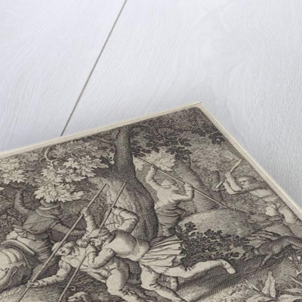 Boar Hunt by Claes Jansz. Visscher II