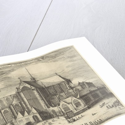 Nieuwe Kerk Amsterdam by Claes Jansz. Visscher II