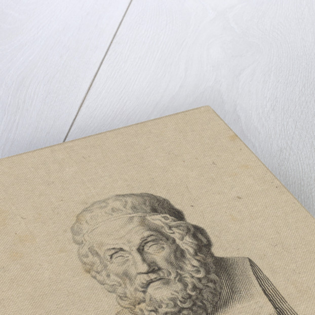 Bust of the Greek poet Homer by P. Mottet