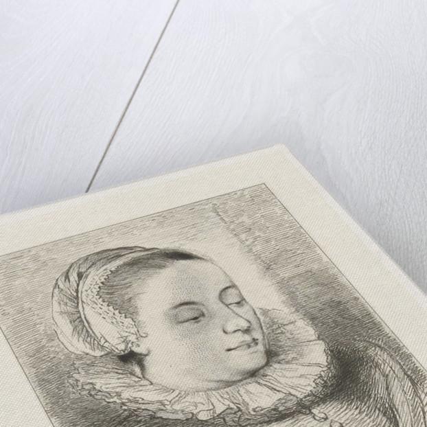 Portrait of Anna Roemers Visscher by Johannes Arnoldus Boland