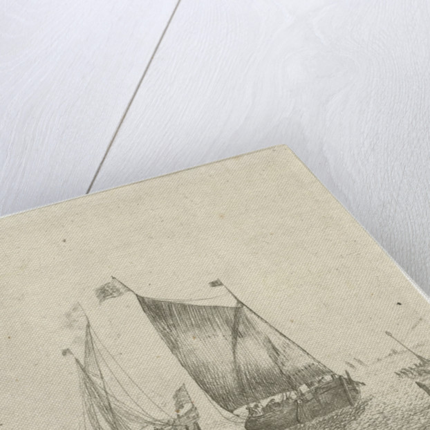Seascape with fishing boat by Bonaventura Peeters I