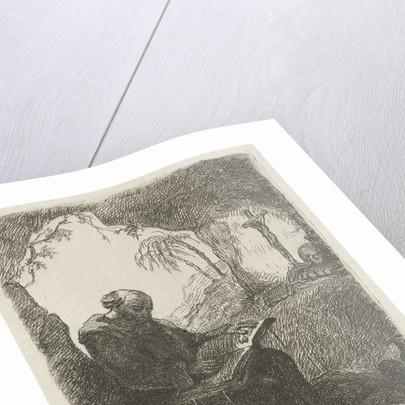 Monk in a cave by David van der Kellen II