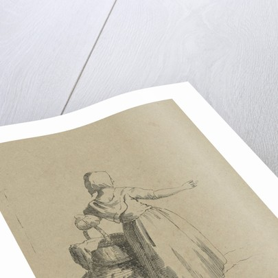 Woman with a basket by Jacob van Kouwenhoven