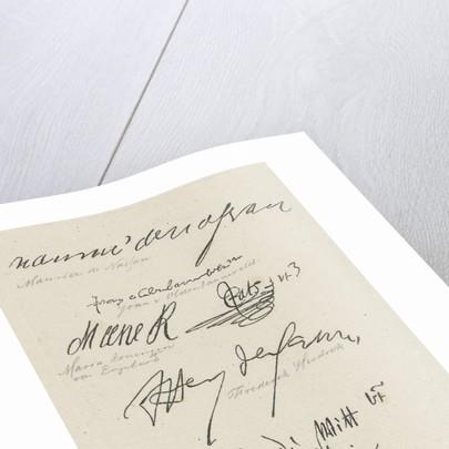 Several facsimiles of signatures by Anthonie Willem Hendrik Nolthenius de Man