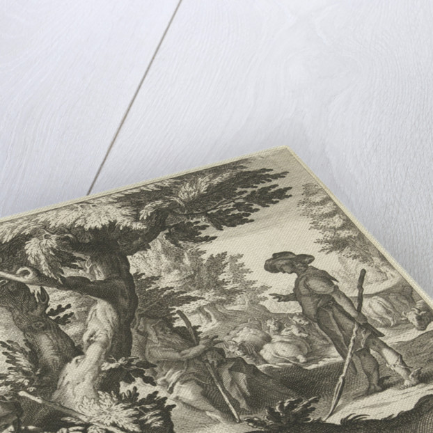Mercury and Battus by Franco Estius